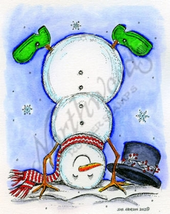 M8779 Snowman Standing On His Hand