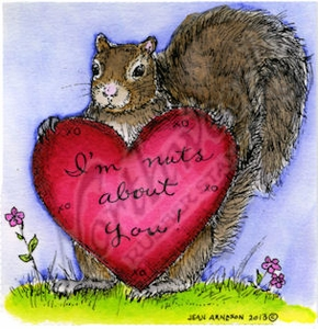 M8949 Nora's Valentine Squirrel