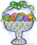 M9018 Bowl Of Easter Eggs