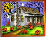 M9157 Haunted Halloween Cottage