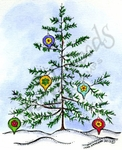 M9257 Outdoor Tree With Ornaments