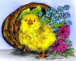 M9708 Sassy Chick In Basket