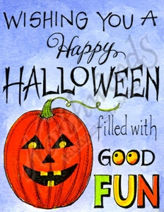 M9821 Mixed Font Wishing You A Happy Halloween With Jack