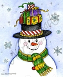 M9880 Elis' Snowman With Presents Hat