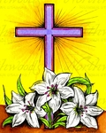 M9945 Cross And Lilies