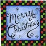 CC9685 Merry Christmas In Checked Square