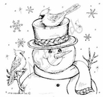 Happy Snowman With Cardinals MM8304