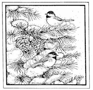 Two Chickadees In Square MM8333