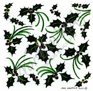 Solid Holly And Swirls MM8784