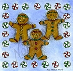 Gingerbread Men With Candy Border MM9249