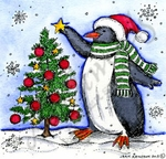 Penguin Decorating Tree MM9251