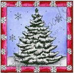 Spruce In Snowflake Square MM9357