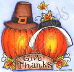 Give Thanks Pilgrim Pumpkins MM9618