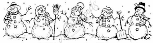 N1930 Snowmen In A Row-Medium