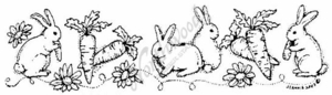 N3333 Carrot and Bunny Border