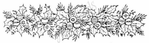 N3853 Pine and Ornament Border