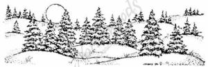 N3876 Hilly Spruce and Moon Border