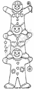 N3909 Stacking Gingerbread Men