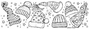 N3915 Winter Hat Border