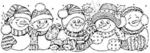 N3916 Snowman In Hats Border