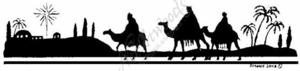 N3922 We Three Kings Solid Border