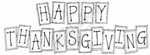 N6282 Block Happy Thanksgiving