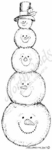 N6342 Stacking Snowmen Heads