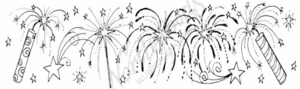 N7481 Firecracker, Sparkler and Firework Border