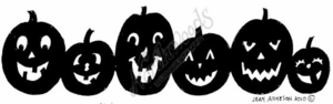 N7516 Solid Happy Jack O' Lantern Border
