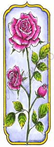 N8511 Tall Framed Rose
