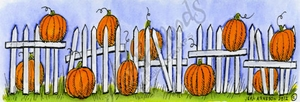 N8710 Pumpkins And Fence