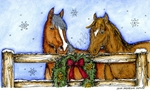 NN10147 Horse Pair With Wreath