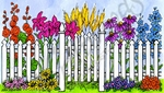 NN10238 Spring Gated Fence