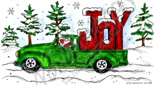 NN10329 JOY Christmas Truck