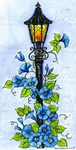 O10001 Lamp Post With Morning Glories