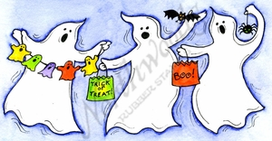 O10068 Joy's Dancing Trick Or Treat Ghosts