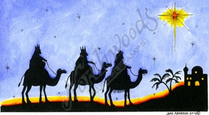 O10122 We Three Kings And Star Silhouette