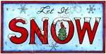 O10174 Let It Snow With Cardinal In Rectangle Frame