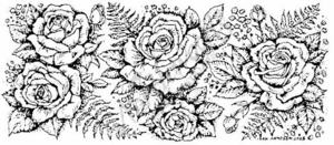 O1385 Rose and Fern Border