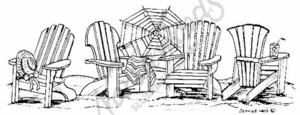 O3354 Chair and Umbrella Border