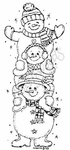 O3859 Trio Of Snowmen
