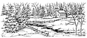 O3875 Church and Spruce Border