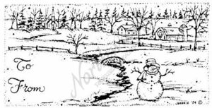 O3889 Snowman and Farm Gift Tag