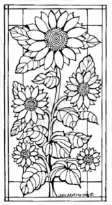 O4596 Stained Glass Sunflowers