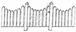 O482 Curved Picket Fence