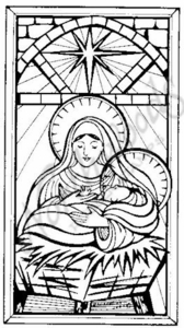 O4834 Stained Glass Mary and Jesus