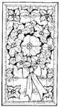O4835 Stained Glass Holly Wreath