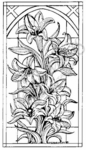 O5038 Lily Stained Glass