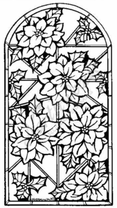 O6318 Poinsettia Stained Glass