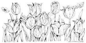 O6707 Tulip With Butterfly Border